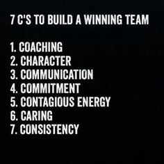 Building a winning team is made up of these 7 C's. You will notice that coaching is right at the top. Do you embrace coaching as part of building a winning team? How do you apply this? Does your organisation make use of internal or external coaches? Leadership Tips, Leadership Development, Quotes About Leadership, Leadership Assessment, Nursing Leadership, Student Leadership, Leadership Qualities, Personal Development, The Words