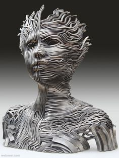 50 Beautiful and Creative Metal Sculptures and Metal Wall Sculptures | Read full article: http://webneel.com/metal-sculptures | more http://webneel.com/sculpture-works | Follow us www.pinterest.com/webneel