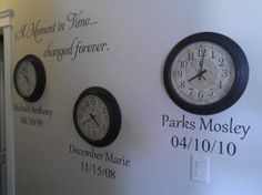 A Moment in Time changed forever birth dates Vinyl Decal Wall Art Lettering Decals