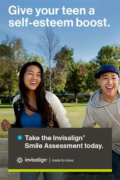 Teens wearing Invisalign clear aligners are 2X more likely to have a boost in self-esteem than teens with metal braces. Get them started on their path to a confident smile today!