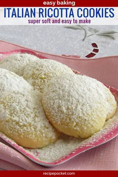 Italian ricotta cookies, easy to make for Christmas and other special occasions. Use this recipe to make lemon ricotta cookies, orange ricotta cookies, lime ricotta cookies and vanilla ricotta cookies Italian Ricotta Cookies, Lemon Ricotta Cookies, Italian Cookie Recipes, Italian Cookies, Italian Desserts, Easy Cookie Recipes, Just Desserts, Sweet Recipes, Delicious Desserts