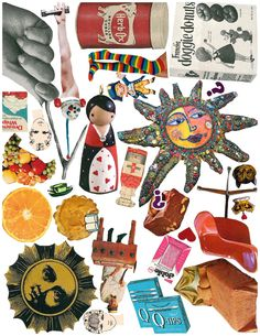 Art Therapy Collage Cut-Outs / Printable  Offer image sheets and ask client to arrange as desired.