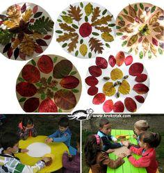 Mandalas de otoño con materiales de la naturaleza #edplástica // Nature Autumn mandalas