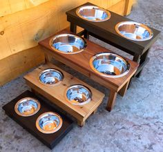 7 Natural Small Elevated Pet Feeder THE ONLY 100%