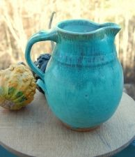 Turquoise glaze pitcher - Page Pottery