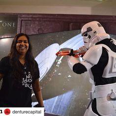 #Repost @denturecapital with @repostapp  @aa_balanari wearing #MadeWithPassionInBLR T-shirt at @comicconindia