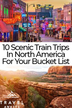 10 Scenic Train Trips In North America To Add To Your Bucket List – Travel Destinations Top Travel Destinations, Places To Travel, Places To Visit, Train Travel, Travel Usa, Train Trip, Japan Travel, Vacation Places, Vacation Trips