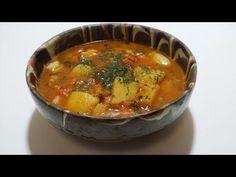 Mancare de cartofi, simpla, de post - YouTube Potato Recipes, Potato Food, Romanian Food, Stevia, Thai Red Curry, Bacon, Cooking Recipes, Potatoes, Simple