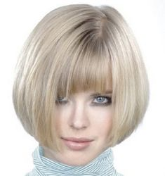 short sleek bob haircuts | Short Blunt Bob Hairstyle With Bangs 282x300 Short Bob Hairstyles 2014