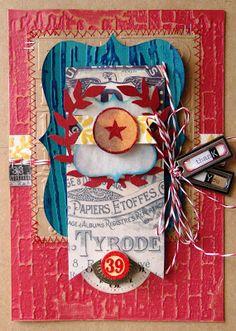 Amy Baldwin layered card - http://curlyqmosaics.blogspot.com/2013/01/tim-holtz-card-favorites-paper-issues.html