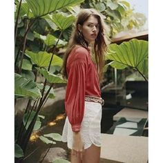 evaChic | This Maje Camille Floaty Smock-Detailed Blouse is in tune with the prolonged 70s trend. The peasant blouse is now a summer wardrobe staple, and this Maje stunner is a wonderful piece from the brand's SS16 collection that mixes well with everything!  http://www.evachic.com/product/maje-camille-floarty-smock-detailed-blouse/