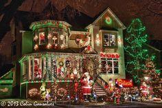 Local Christmas Lights on a Map