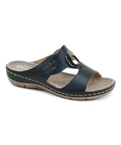 Take a look at this Black Contrast-Seam Sandal today! 19.99