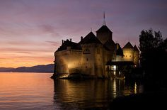 Château de Chillon, Montreux-- i've been here but I would kill to go back.  Such a cool place