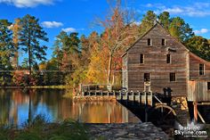 Yates Mill Pond in Autumn - Raleigh North Carolina in the fall