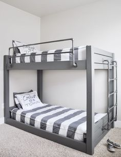 Awesome Industrial Bunk Beds 39 Industrial Style Bunk Beds Get The Free Plans-17717. Interior Decorating and Home Design Ideas.. Loggr.me #homedesignplans
