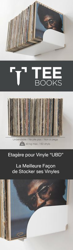 """Étagère de rangement pour vinyles """"UBD"""" - Lot de 2 - 120 vinyles - Acier Les étagères murales spécialement conçues pour les DISQUES VINYLES. Vous pouvez utiliser les étagères murales UBD pour composer une bibliothèque de vinyles design TEEBooks comme vous le souhaitez, et disposer vos 33T, vos 45T ou encore vos 78T. Les étagères à vinyles TEEBooks permettent un grand nombre des variantes, avec un design simple pour réaliser une bibliothèque modulable fonctionnelle."""