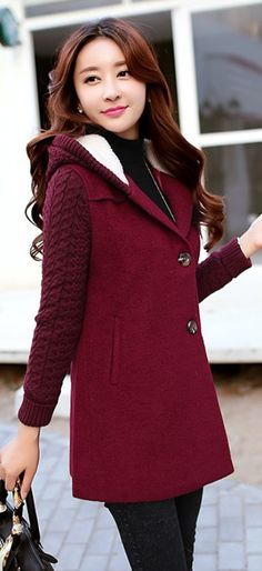 Hooded Winter Wool Coat, cashmere coat, wool coat, crocheted coat, yellow wool coat, real wool coats, YRB style, affordable cashmere coat, cute cashmere coat, korean fashion, asian clothing uk