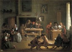 Houassemichel-Ange (1680-1730). Interior Of A School. Baroque Art. Oil On Canvas. Spain. Segovia. Royal Palace Of La Granja De San Ildefonso (St. Ildefonse'S Farm). Ω Aisa/Everett Collection (4288) Poster Print (24 x 18)