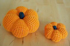 Kürbis häkeln Anleitung kostenlos Amigurumi Halloween Herbst groß klein