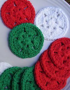 12 Christmas Star Facial Scrubbies Coasters 100% Cotton