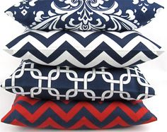 NAVY BLUE Pillow covers by DeliciousPillows, $20.00