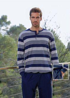 PIJAMA con PUÑOS - Hasta talla 4XL - Vuelven los pijamas hombre con puños en camisola y pantalón. No se suban a la hora de dormir. 100% ALGODÓN