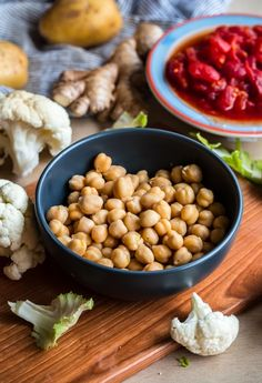 Simple Cauliflower, Potato, and Chickpea Curry. A healthy, weeknight-friendly vegan and gluten-free main course!