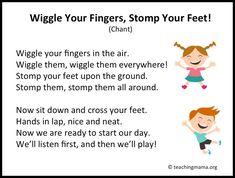 Kindergarten Songs, Preschool Music, Preschool Classroom, Preschool Learning, Preschool Activities, Classroom Ideas, Preschool Circle Time Songs, Classroom Chants, Teaching Music