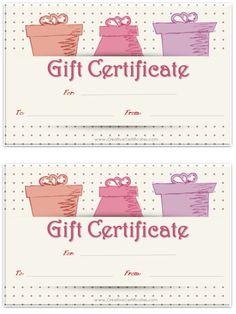 Birthday gift certificate template free printables pinterest so many free gift certificate printables maxwellsz