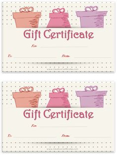 Free printable and editable gift certificate templates avon so many free gift certificate printables yadclub Images