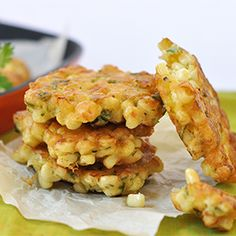 Sweet Summer Corn Fritters by madeinourkitchen: This could easily become a summer favorite! #Fritters #Corn