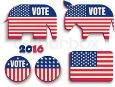 USA Presidential Election Day 2016, vector graphic by Colourbox