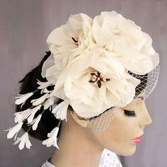 Floral Bridal Headwear    sooo cute