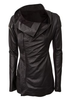 Rick Owens | Leather Carapace Zipped Jacket Black | Hervia.com