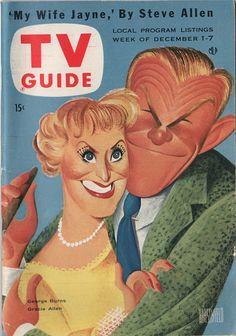George Burns and Gracie Allen  December 1-7 1956  Illustration by Al Hirschfeld