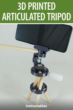 This articulated tripod using 3D printed joints and wooden dowels. #Instructables #3Dprint #photography #hyperboloid #Fusion360 Fusion 360, 3d Printing Diy, Tripod, 3d Printer, Cnc, Fun Crafts, Manual, Diy Ideas, Audio