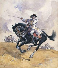 El General Montcalm fue enviado por el Rey de Francia con refuerzos para Nueva Francia en 1756. Dirigió una exitosa campaña entorno al Lago Champlain. Ante sus éxitos, Gran Bretaña realizó un mayor esfuerzo bélico en 1758 y sobrepasó en número a los franceses, tomando Louisbourg y Fort Duquesne y sitiando Quebec, donde Montcalm sería derrotado y herido de muerte (1759).