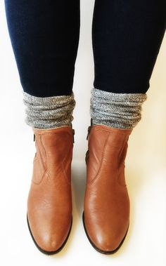 boots + socks + jeans.