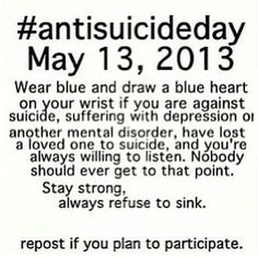Im still going to do it even though this day already passed. Im against and am suffering