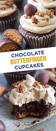 During your Easter celebrations with family and friends, make this delicious recipe for Chocolate Butterfinger Cupcakes. This delectable dessert is topped with a peanut butter buttercream frosting and the crispety, crunchety, peanut-buttery taste of BUTTERFINGER®️️ Cup Eggs. Filled with flavor, this is the perfect treat to serve over the Easter weekend.