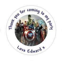 Personalised the avengers birthday, #goody bag #stickers #party thank you ,  View more on the LINK: 	http://www.zeppy.io/product/gb/2/301727997126/