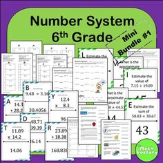 Number System 6th Grade Mini Bundle #1: This bundle includes 5 activities addressing 6th grade Common Core Number System Standards 6.NS.1, 6.NS.2, 6.NS.3, AND 6.NS.5.The activities include:1) Dividing Fractions Partner Perfection2) Estimating Decimals with Addition Scavenger Hunt3)  Positive and Negative Numbers in the Real World Worksheet4)  Mixed Operations Decimal Scavenger Hunt5)  Division Self-Checking Worksheet 2-PackThis download is for a single end user.
