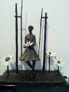 Portchie - He loves me .he loves me not South African Artists, Bronze Sculpture, Sculptures, Art Gallery, Alice, Music, Books, Movies, Painting