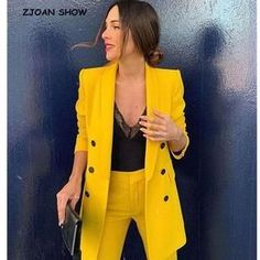 How to wear yellow jacket work outfits 35 Ideas for 2019 Yellow Things yellow jacket Business Casual Outfits, Office Outfits, Classy Outfits, Chic Outfits, Fashion Outfits, Fashion Ideas, Fashion Tips, Zara Fashion, Suit Fashion