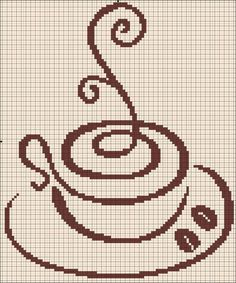 Free coffee cross stitch pattern #stitching: