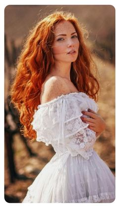 Red hairy woman