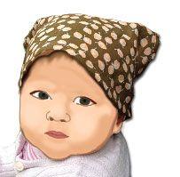 baby-Kopftuch - kostenloses Schnittmuster und Anleitung