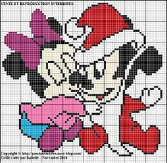 Mickey et Minnie Bébé à Noel  click on photo for chart