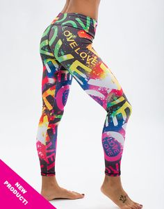 c7892a877dbe The Love Legging by Body Angel is a uniquely styled print legging for the  active female. Wear to the gym